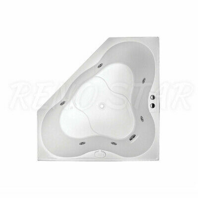 1285/1485mm LOCAL MADE 6 Chrome Jets Corner Drop in Spa Bath (2 Size Available)