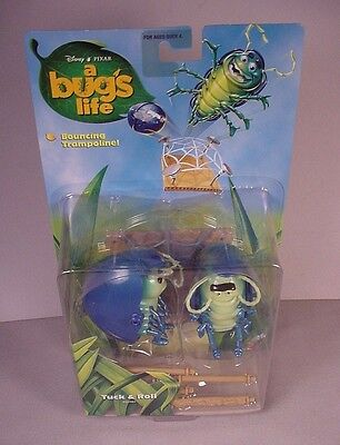 1998 Disney Pixar A Bug's Life Tuck & Roll toy action figures MOC new in PKG