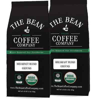 The Bean Coffee Company Organic Breakfast Blend Ground, 32 Ounce