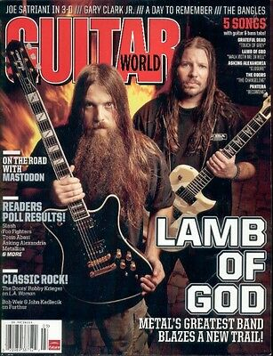 GUITAR WORLD Magazine MARCH 2012 - LAMB OF GOD / MASTODON / DOORS / JOE SATRIANI