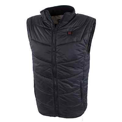 Venture Heated Clothing Men's Battery Heated Nylon Vest (Black, X-Large)