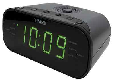 Timex T231G AM/FM Dual Alarm Clock Radio with 1.2-Inch Green Display and Line-In