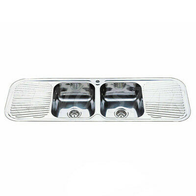 1500*500*180mm Drop In stainless steel Kitchen Sink double Bowl with drainer