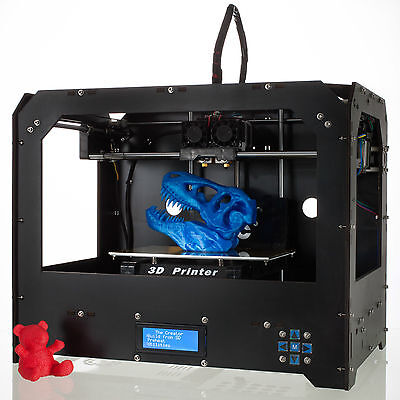 CTC 3D Printer DUPLICATOR 4 Dual Extruders Space board +1 Kg ABS for Makerbot