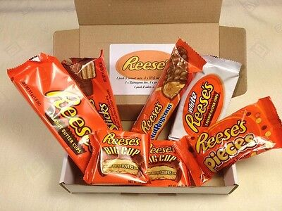 Reese's Gift Box.... 7 x American Chocolate Sweets. American Candy