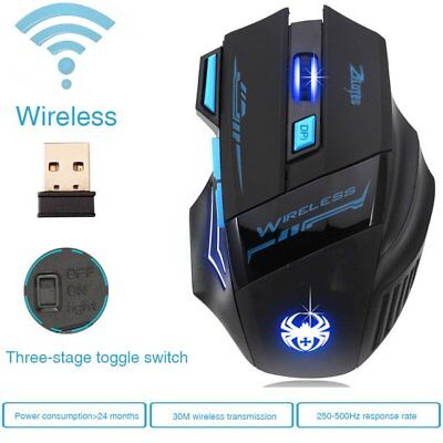 ZELOTES 2.4G Wireless Gaming Maus  Einstellbare 2400 DPI Mouse für Laptop PC
