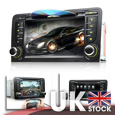 """New Android 5.1.1 7"""" Multimedia Car DVD GPS w/ Screen Mirroring for Audi A3/S3"""