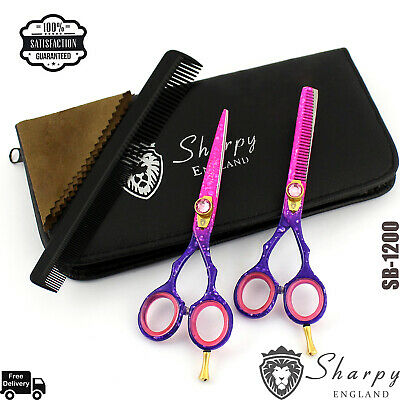 "Original Sharpy Pro Barber Hair Dressing Scissors Shears Blue Mist 5.5"" Rrp £42"