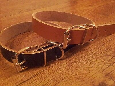 Pet Puppy / Dog Collars Real Leather Extra Small, Small, Medium, Large