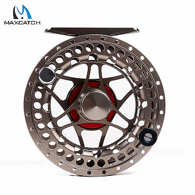 Maxcatch 5/6WT Large Arbor CNC Machined Aluminium Classic Fly Fishing Reel