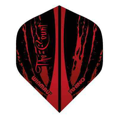 TED HANKEY RHINO TOUGH STANDARD DART FLIGHTS - WINMAU - 1/5/10 Sets The Count