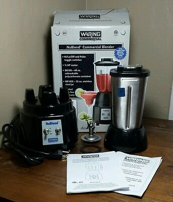 WARING COMMERCIAL BB180S NuBlend Bar Blender, 32 Oz, Toggle Switches EUC