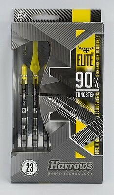 HARROWS ELITE TUNGSTEN DARTS SET - BLACK TITANIUM NITRIDE, 21g - 26g gram