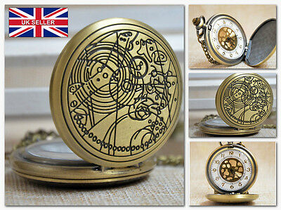 Doctor Who Dr Who Hunter Necklace Pocket Watch Vintage Western *UK Stock