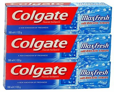 12x100ml Colgate Max Fresh Cool Mint with Cooling Crystals Toothpaste 100ml