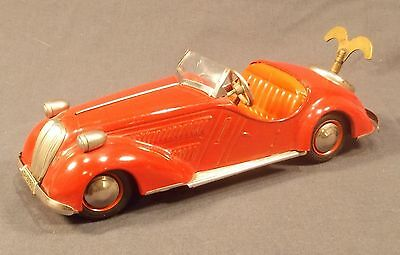 "Red Distler U.s. Zone Germany Tin ""Bmw"" Wanderer Convertible D-3150 With Shift"