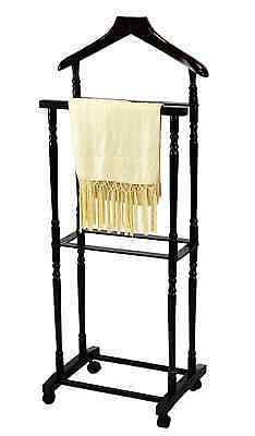 Frenchi Home Furnishing Men Suit Valet Stand with Suit Hanger, Espresso