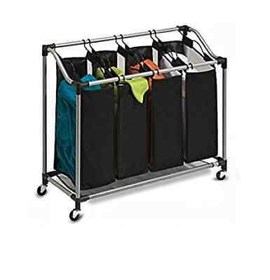 Honey-Can-Do SRT-01682 Deluxe Quad Laundry Sorter with Polyester Bags