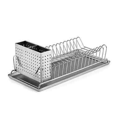 Polder 6115-75 Compact Stainless-Steel Dish Rack with Utensil Holder