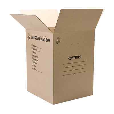 """Duck Brand Kraft Corrugated Shipping Boxes, 18"""" x 18"""" x 24"""", Brown, 6-Pack (1139"""