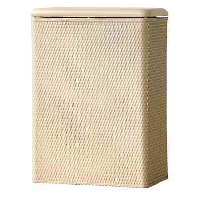 LaMont Home Carter Family Size Wicker Laundry Hamper with Coordinating Padded Vi