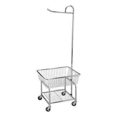 Household Essentials Rolling Laundry Butler, Chrome Finish