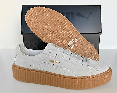 newest 266f5 82ee9 NEW PUMA FENTY By Rihanna Creepers Suede Star White Men's Shoes All Sizes