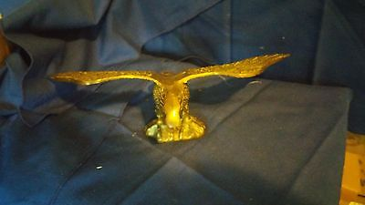 Vintage Cast Brass Finished Patriotic Flying American Eagle Figurine Statue