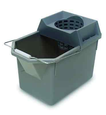 Rubbermaid Commercial HDPE Pail and Mop Strainer Combination, 15-Quart Capacity,