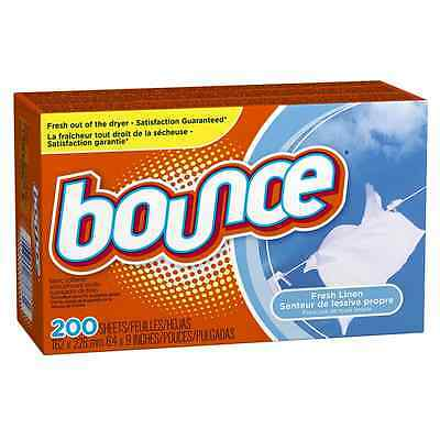 Bounce Fresh Linen Fabric Softener Sheets, 200 Count- Packaging May Vary