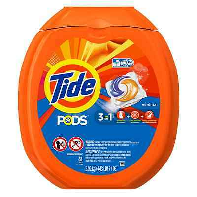Tide PODS Laundry Detergent, Original, 81 count, Designed for Regular and HE Was