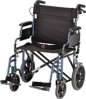 NOVA Medical Products 332 Lightweight Transport Chair with Detachable Arms, Hand