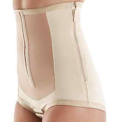 Bellefit Dual-Closure Corset with Hooks & Side Zipper, Medical-Grade, C-Section