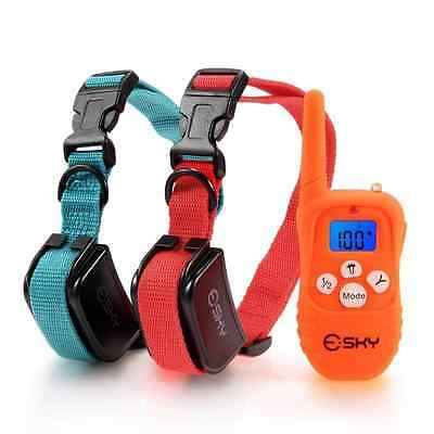 Esky Backlight 330YD Remote Dog Training Collar Rechargeable,Beep Vibration/Shoc