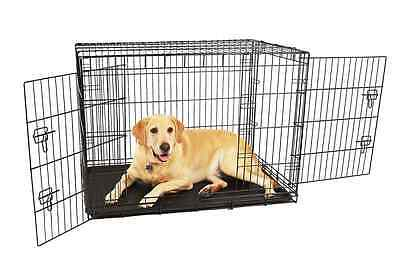 Carlson Pet Products Compact and Secure Double Door Metal Dog Crate, Large