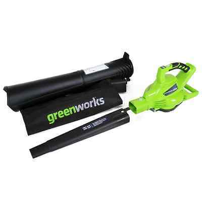 GreenWorks 24312 G-MAX 40V 185MPH Variable Speed Cordless Blower/Vac, Battery an