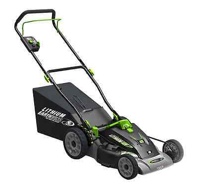Earthwise 60418 Cordless 40V Lithium Ion Lawn Mower, 18-Inch