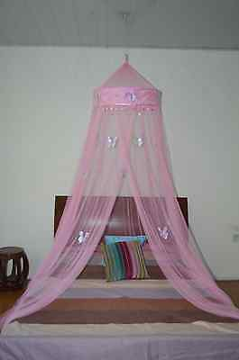 Butterfly Bed Canopy Mosquito NET Crib Twin Full Queen King (Pink)
