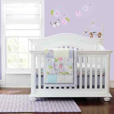 New Baby Girls Dream Butterflly 7pcs Crib Cot Bedding Set,Neutral,Natural,Animal