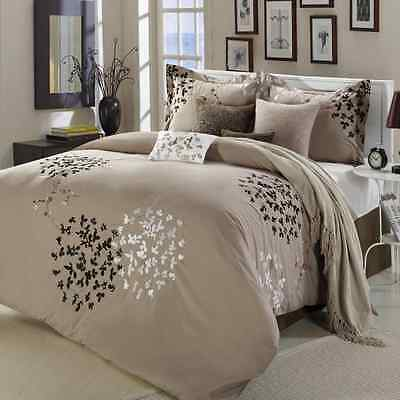 Chic Home Cheila 8-Piece Comforter Set, Queen, Taupe