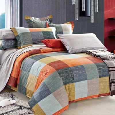 North Home Meridian 100% Cotton 4 PC Duvet Cover Set(Twin)