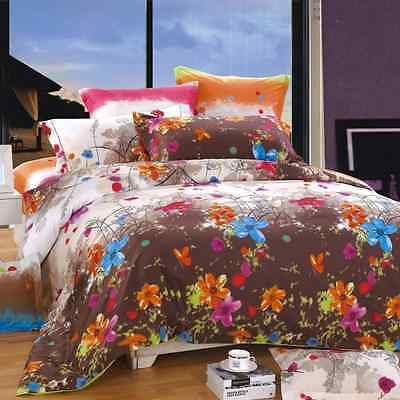 North Home - Blossom 100% Cotton 4pc Duvet Cover Set (Queen)