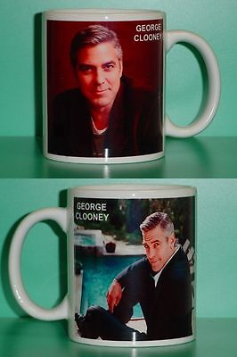 GEORGE CLOONEY - with 2 Photos - Designer Collectible GIFT Mug