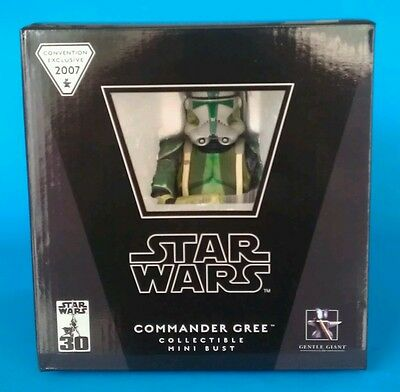 Star Wars Gentle Giant Commander Gree Mini Bust 2007 Convention Exclusive #655