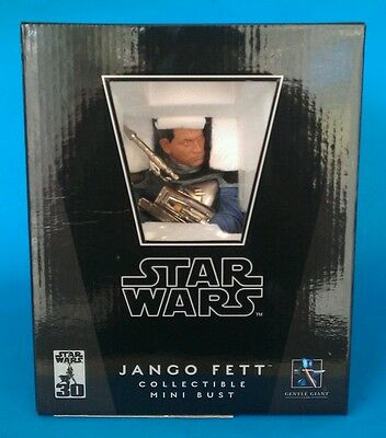 New Star Wars Gentle Giant Jango Fett Mini Bust #7081/9000