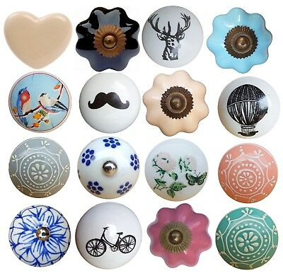 Vintage Ceramic Drawer Knobs Pull Handle Door Cabinet Knob