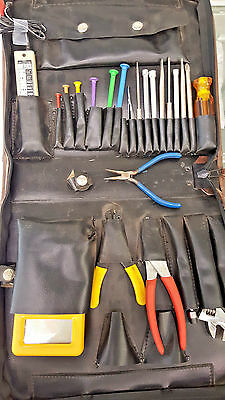 Electronic Technicians Kit, 40+ Pieces, In Zippered Case, Used
