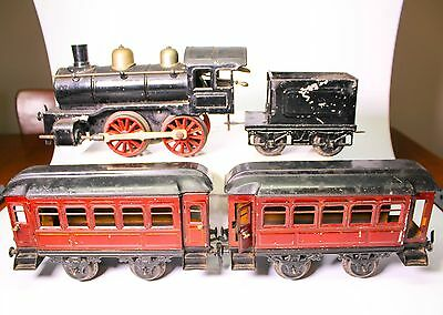 Scarce Pre-war Karl Bub O Guage German Tin Litho Train Set (LARGE)