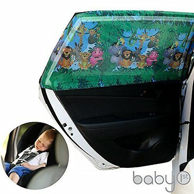 Universal Car Sun Shades Cover for Rear Side Window Provides Maximum UV for Kids