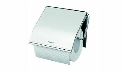 Mounted Brabantia Toilet Roll Holder, Brilliant Steel, Bathroom, Toilet Paper